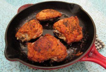 cuisses de poulet cuisson dans une casserole