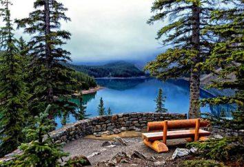 """""""Vale dos dez picos."""" Moraine – Lake no Canadá"""