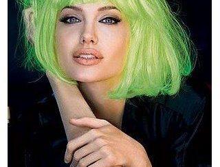 cabelo verde à vontade e por coincidência