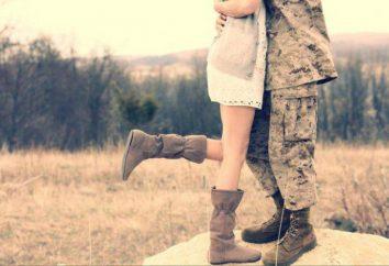 Wie für einen Mann aus der Armee warten: psychologische Beratung für Mädchen. die Armee Brief