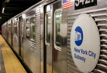 mapa del metro de Nueva York. Características de la circulación de trenes
