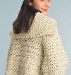 Malha cardigan crochet – uma coisa universal