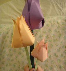 Comment ne papier tulipe: dire à notre classe de maître