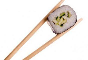 Pałeczek do sushi. Nazwa. Gatunków. urząd celny
