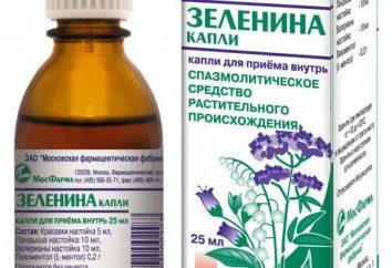 """Vegetal """"Gotas Zelenin"""": instruções de uso"""