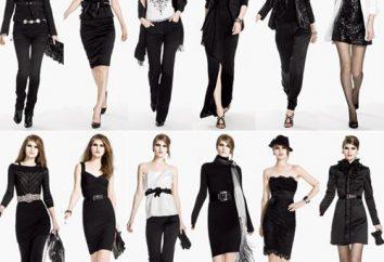 Colore nei vestiti e gli interni: con quello che combinano i colori nero