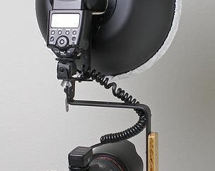 Portraitplatte für Kamerablitz