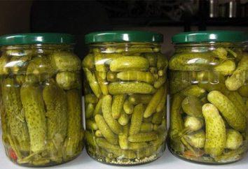 concombres mise en conserve avec de l'acide citrique. Recettes des préparations domestiques