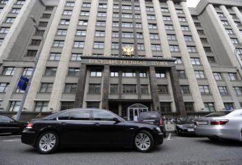 Struttura e composizione della Duma statale della Federazione Russa: elenco, funzioni e caratteristiche