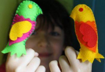 Finger Teatr filcu z rękami: wzory i szablony