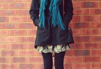 Wie man einen Schal auf dem Mantel binden