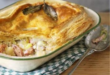 gâteau gélifiée avec pommes de terre et le poulet. gâteau de remplissage rapide: recette
