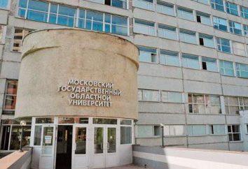 MGOU im. Krupska (Moscow State University Regional): Adres, działy, gałęzie