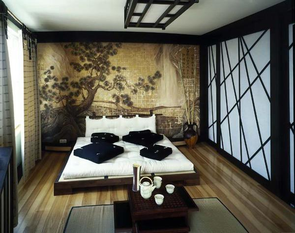 Orientalny Styl Wnętrza Wnętrze Salon Korytarz I Całe