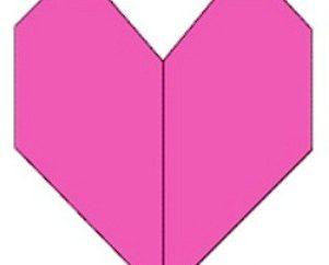 Beschreibung einer einfachen Art und Weise, wie Origami Herz zu machen
