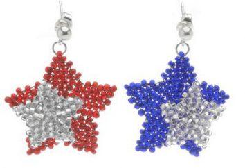 Belle orecchini di perline: schema di tessitura
