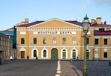 Mint em São Petersburgo: uma breve história da base da planta e fabricação de moedas