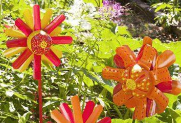 Dekorationen aus Plastikflaschen mit eigenen Händen. Dekorative Figuren für den Garten
