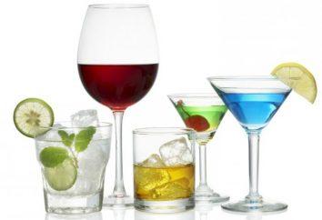 Les noms des verres pour les cocktails. types de verres