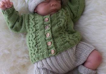 Wie Booties für Neugeborene stricken sprach: Schema. Bootees Speichen Schritt für Schritt
