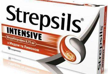 """""""Strepsils Intensive"""": instrucciones de uso, composición, análogos"""