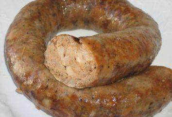 """Salsiccia """"Home"""" ricetta in Ucraino. salsiccia sangue e fegato"""