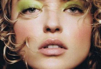 sombras verdes de ojos verdes. seleccione el tinte