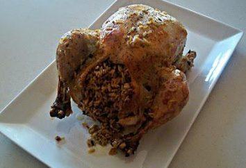 Pollo relleno de arroz: recetas