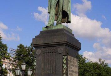 monumento Pushkin di Mosca come un omaggio al grande talento