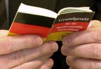 Costituzione tedesca. struttura statale della Germania del dopoguerra