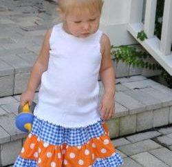 Modna spódnica dla dzieci