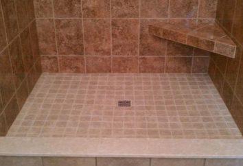 base de duche com as mãos: a instalação, montagem, reparação