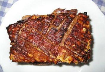 Receita de toucinho de porco com uma quantidade mínima de especiarias