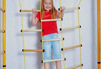 Le complexe sportif pour les enfants dans l'appartement. Exercice dans le complexe sportif pour les enfants