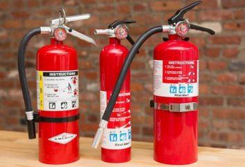 A freqüência de inspeção de extintores de pó na empresa. Verificando extintores de dióxido de carbono – periodicidade