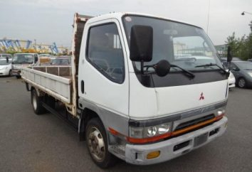 """""""Mitsubishi Canter"""" – camion a basso tonnellaggio giapponese, che è disponibile in russo"""