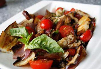Salade d'aubergines et de tomates et de l'ail: la recette. La cuisine maison