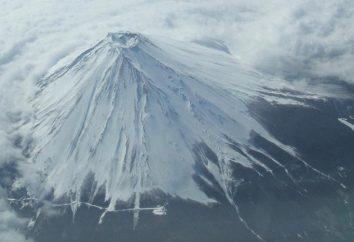 Die Höhe des Mount Fuji in Japan in Metern