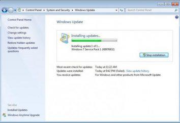 Odinstalowywanie systemu Windows 7 aktualizacje za pomocą wiersza poleceń