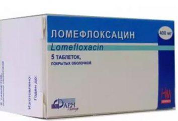 Et Analogues mode d'emploi « Lomefloxacin »