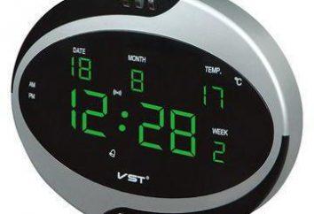 VST relógio electrónico: Descrição, instrução
