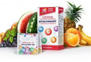 """Vitamines """"Multifort"""": les avis, instructions d'utilisation, la composition et la description"""