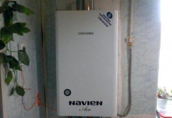 "Caldera ""Naven"" – el fracaso. Pared de la caldera de gas montada ""Naven"""
