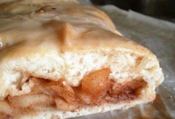 pastel de levadura delicioso, suave y exuberante con manzanas