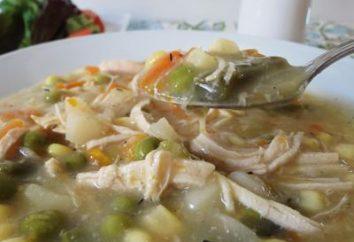 Para um delicioso jantar – sopa com peito de frango