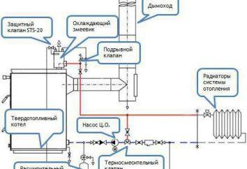 caldaia a combustibile solido. L'installazione di caldaie a combustibile solido in una casa privata: lo schema