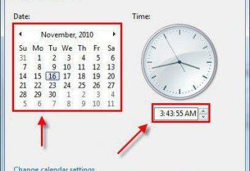Como definir a hora ea data no computador: os métodos e instruções