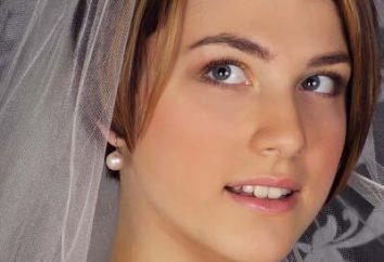 Stilvolle Hochzeitsfrisur für kurzes Haar mit einem Schleier