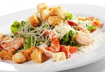 Salade « César » aux crevettes: recette délicate et raffinée