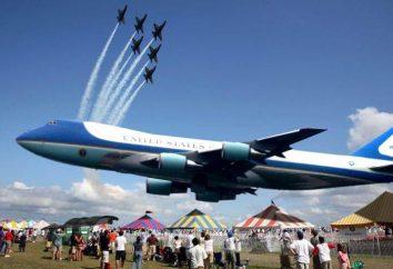 Prezydent USA Samolot: opis, opis, charakterystyka i ciekawostki
